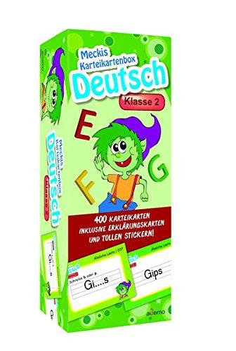 Karteibox Deutsch Klasse 2: mit 400 farbigen Karteikarten und tollen Stickern