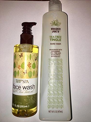 Trader Joes Spa Face Wash with Tea Tree Tingle Body Wash