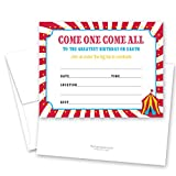 Carnival Circus Birthday Fill-in Invitations - 24 Count