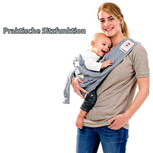Lodger Shelter 2.0 – 3in1 Babytrage, Babytragetuch, Babysling sowie Transportdecke für Babys und Eltern, ab Geburt bis 18 Monate (max. 12kg), Sicheres Verschlusssystem, Trage-Tuch für Babys und Kinder, Schönes Design, Neu und OVP - 5