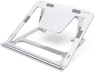 FOUWE Soporte para computadora portátil soporte de elevación de escritorio de aleación de aluminio radiador plegable base portátil portátil elevación soporte de clase Mesa para Ordenador Portatil
