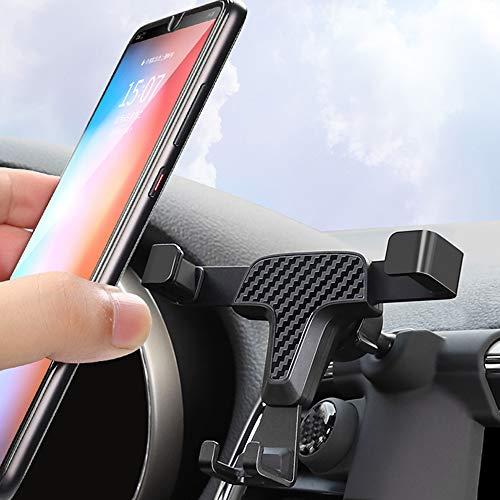 Genericss Soporte para teléfono móvil Grand Cherokee 2014-2020, para rejilla de ventilación de coche, rotación de 360 grados, accesorio para coche, color de fibra de carbono