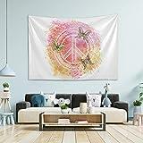 N/ A Tapiz para colgar en la pared de la habitación, símbolo hippie de la paz, tapiz de pared grande para dormitorio, decoración de...