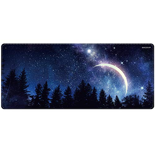 YISK Gaming Mouse Pad Large Size 900x400mm Water-Resistant Extended Mouse Mat World Desk Mat Gaming Support for Computer, PC and Laptop(Star)