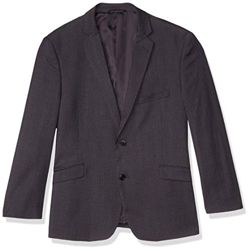 U.S. Polo Assn. Men's Polyester Blend Sport Coat, Grey Mini Check, 40 Short