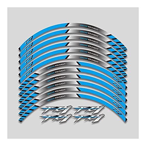 Protector DE Tanque Moto Ajuste para Yam-AH- FZ1 FZ6 FZ-07 FZ8 FZ-09 FZ-10 FZS1000 para FAZER 12 Thick Motorcycle Rueda Rueda de Rueda Pegatinas Rueda de 17 Pulgadas (Color : 1)