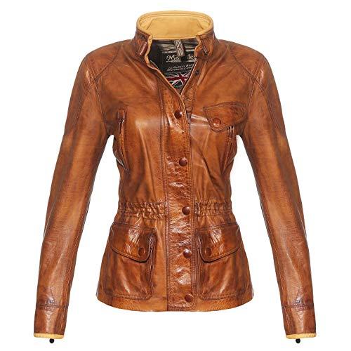 Matchless Damen Leder Jacke Notting Hill Antique Cuero Brown 123004 ((38) XXS)