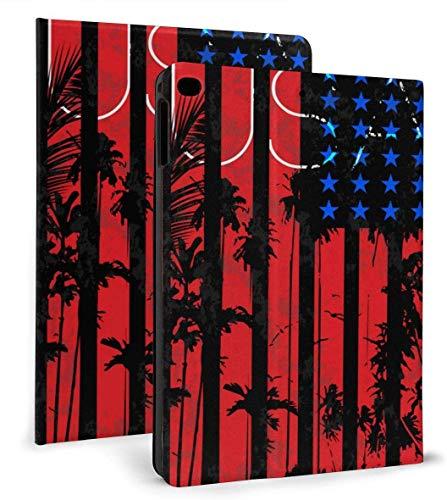 Funda Inteligente de Cuero PU con Bandera de EE. UU. Función de Reposo / activación automática para iPad Mini 4/5 7,9 'y iPad Air 1/2 9,7' Funda