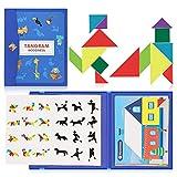 Tangram Puzzles Infantil Puzzles de Madera Juguete Educativo Juego de Viaje Juguete Montessori Bloques de Madera Regalo Niño Niña 3 4 5 6 7 8 años