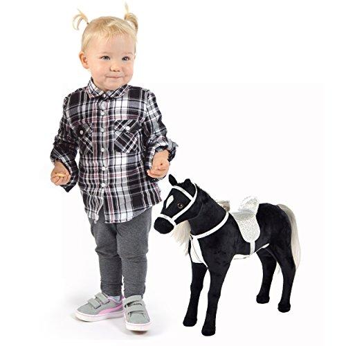 Pink Papaya Cavallo di Peluche 40 cm - Cavalluccio Carmen – Cavallo Giocattolo con Sella e briglie Rimovibili delle Dimensioni di Una Bambola per Giocare e Sognare Toys