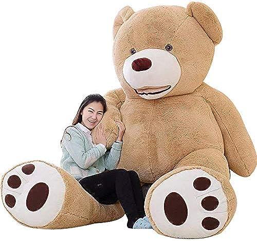 IKASA 20cm   Giant Teddyb mit Grün Fu drücken Weißes Plüschspielzeug Stofftiere Hellbraun