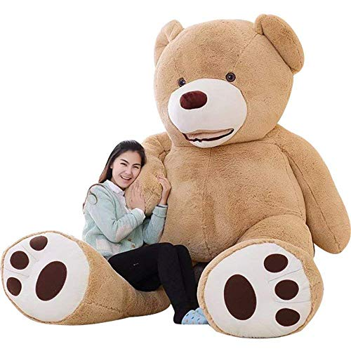 IKASA Giant Teddy Bear Plush Toy Stuffed Animals (Brown, 78 inches)