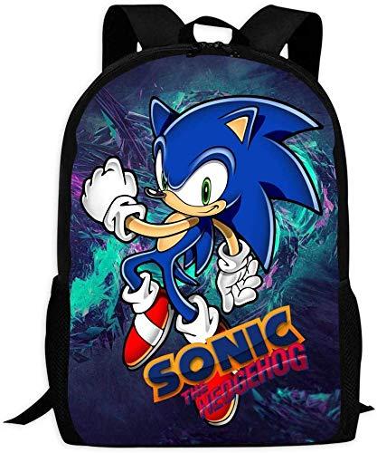 DFIDAS Rucksack Schultasche So-NIC The Hedge-hog Cute Backpack School Bag Book Bag for Boys Girls
