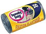 Handy bag - Basura bolsas con asas deslizantes y sujetador elástico 50...