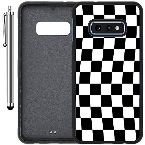 Custom Case Compatible with Galaxy S10e (5.8 inch) (Checkered Flag Finish Line) Edge-to-Edge Rubber Black Cover Ultra Slim | Lightweight | Includes Stylus Pen by Innosub