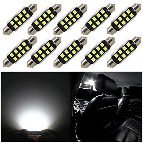 2X Festoon 2LED 41mm 14W Cree Canbus No Error Car Dome LED Light 578 2112 6411