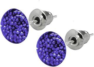 SoulCats® 1 paio di orecchini a bottone in ottica 3D verde rosso rosa bianco blu