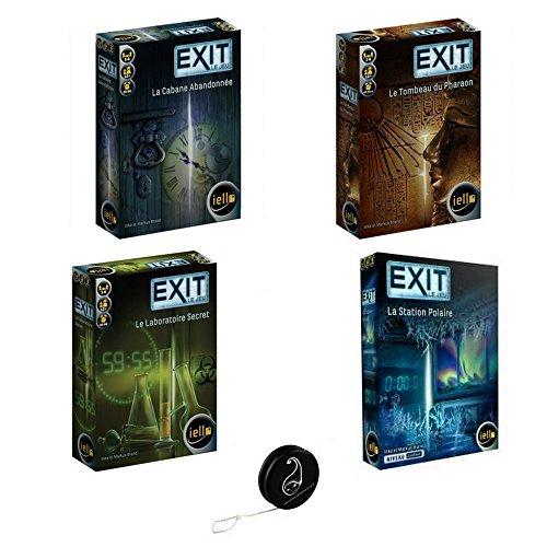 Juego de 4 juegos Exit Laboratorio Secret + la Tumba del Faraón + la cabaña abandonada + la estación polar + 1 Yoyo Blumie.