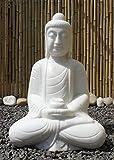 Asien Lifestyle Buddha Garten Brunnen Marmor 61cm China Gartenbuddha Amitabha