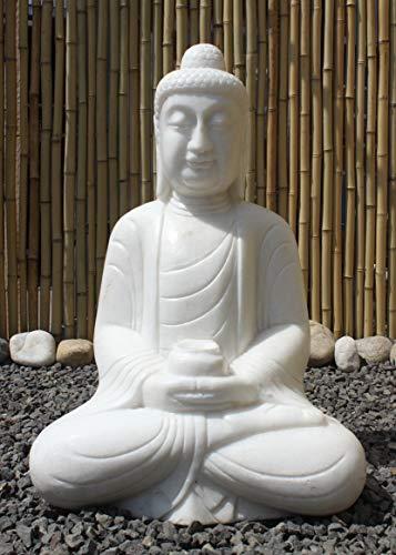 Asia Lifestyle Buddha Jardín Fuente mármol 61 cm China jardín Buddha Amitabha