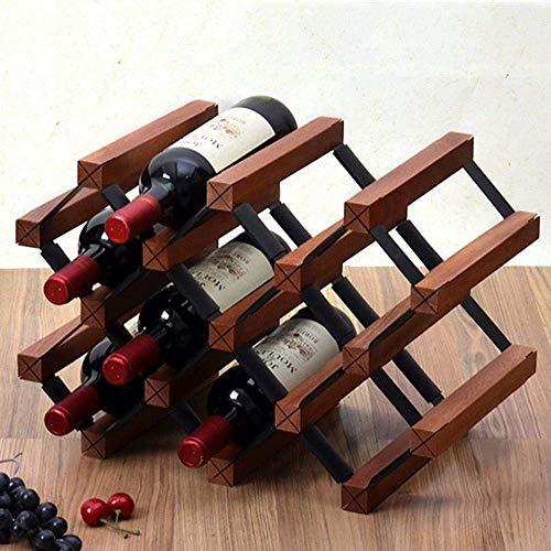 PYROJEWEL Botellero de Madera con 10 Botellas de Cava