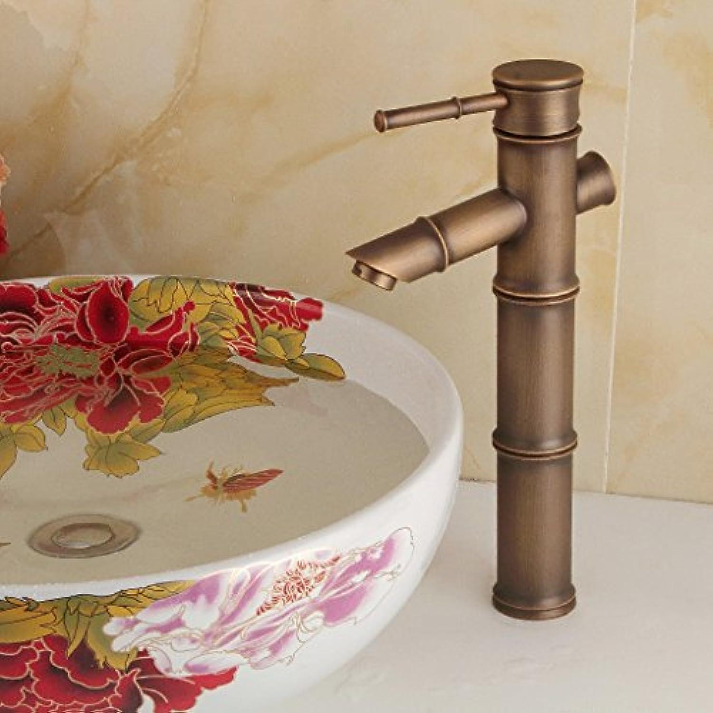 Bijjaladeva Wasserhahn Bad Wasserfall Mischbatterie Waschbecken Armatur für Antique-Brass Mischbatterien Plus Waschtischmischer rotierende Mischen von heiem und kaltem Wasser Spül