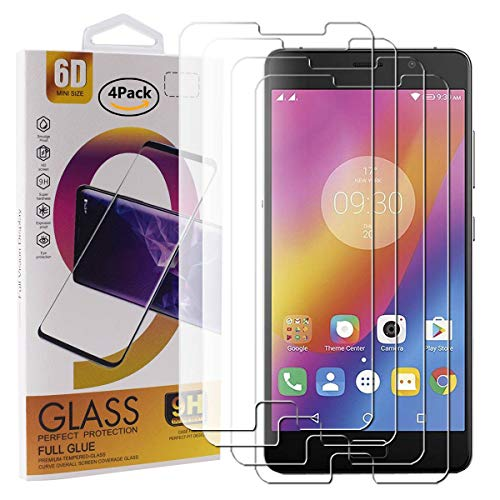 Guran 4 Pack Tempered Glass Screen Protector For Lenovo P2 Smartphone Scratch Resistance Protection 9H Hardness HD Transparent Shatter Proof Film
