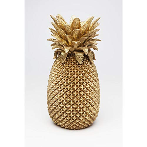 Kare Design Vase Pineapple 50cm, große, goldene Blumenvase, dekorative Ananas - Vase in Gold, Dekovase Gold Tisch, Sideboard (H/B/T) 49,5x24,5x24,5