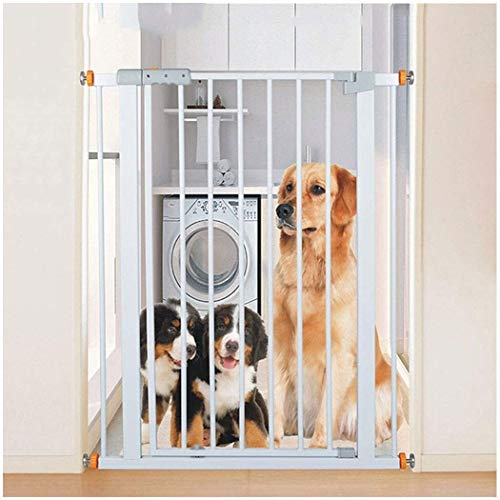 Lanrui Guardrail Garden Door Stairs Fence Pressure Fit Safety Metal Gate Stands 103cm tall The width can be selected from 61 to 223cm Pet Gate baby gate with Extensions Available