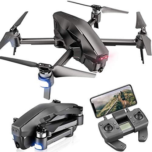 GPS-drone met 4K-camera voor volwassenen,5G WiFi FPV Live-video Opvouwbare drone-GPS,met borstelloze motor,automatische terugkeer naar huis,volg mij,30 minuten vliegtijd,1600M regelbereik, zwart