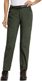 Women's Casual Outdoor Quick Dry Pants Convertible Hiking Camping Fishing Zip Off Durable Trousers