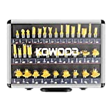 Best Router Bit Sets - KOWOOD Router Bits Sets of 35B Pieces 1/2 Review