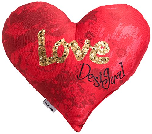 Desigual 57CL0A1 Kissen, Herzform, 50 x 45 cm, Mehrfarbig