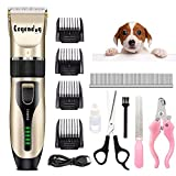 Legendog Dog Hair Clippers,Professional Dog Grooming Clippers Low Noise, Dog Trimmer with Scissors