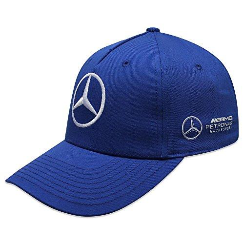 Mercedes AMG F1 Team Driver Puma Bottas Baseball Gorra Azul Oficial 2018