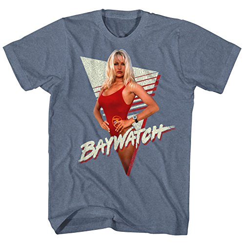 Baywatch Pamela Anderson Triangle Graphic T-shirt for Men