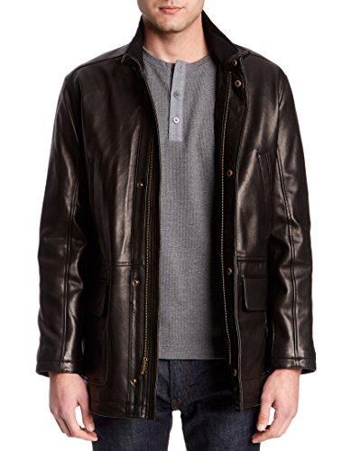 Cole Haan - Abrigo de piel de cordero para hombre - Negro...