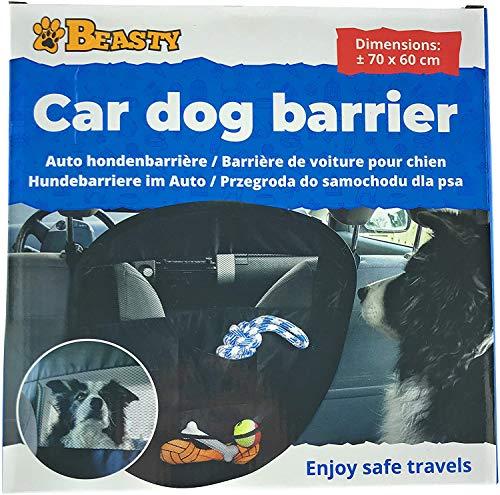 Beasty Barrera de seguridad para perros para coche, rejilla separadora para animales