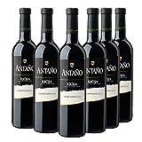 Antaño Tempranillo - Vino Tinto D.O Rioja - Caja de 6 Botellas x 750 ml
