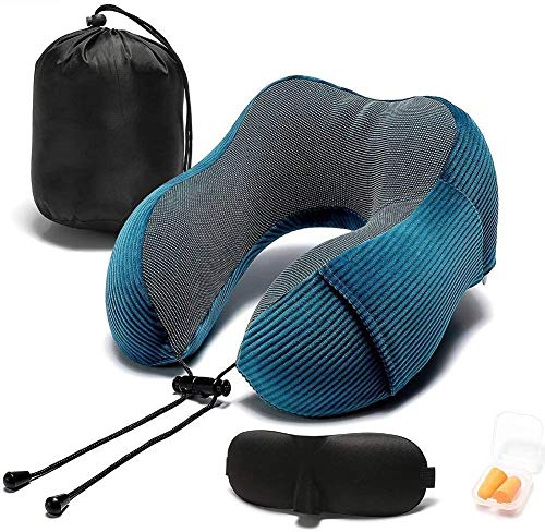 ZOUSHUAIDEDIAN Almohada de viaje, soporte de cabeza de 360 grados, compacto y liviano, memoria de espuma de espuma de memoria soporte de cabeza de almohada suave para descanso para dormir, Aeroplano