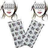 Almohada para los ojos 'Pack-2 Violets' | Semillas de Lavanda y arroz | Yoga, Meditación,...