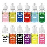 KERDEJAR Kit de pigmentos, 12 Colores Kit de pigmentos de Resina epoxi Transparente Epoxi UV Resina colorante Tinte Pigmento Resina colorante Tinte Resistencia a la decoloración