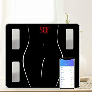 Básculas de baño 180 Kg Smart Body Fat Scale Pantalla Led Usb Recargable Bluetooth Alta Precisión Bmi Scale Interruptor Automático Escala Corporal