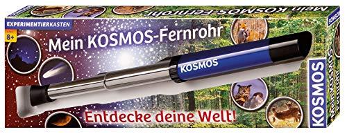 KOSMOS 676919 - Mein KOSMOS-Fernrohr. Entdecke deine Welt! Linsen-Fernrohr mit 12facher Vergrößerung. Stabiler Okularauszug aus Metall. Teleskop für Kinder ab 8 Jahre. Monokular