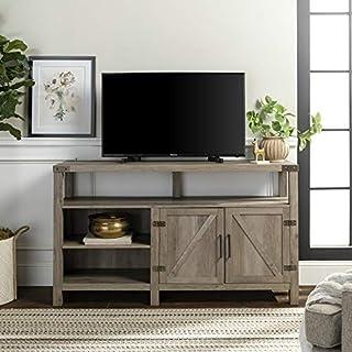 "Walker Edison We Furniture W58BDHBGW Tall TV Stand, 58"", Grey Wash (B079ZXFYV6) | Amazon price tracker / tracking, Amazon price history charts, Amazon price watches, Amazon price drop alerts"