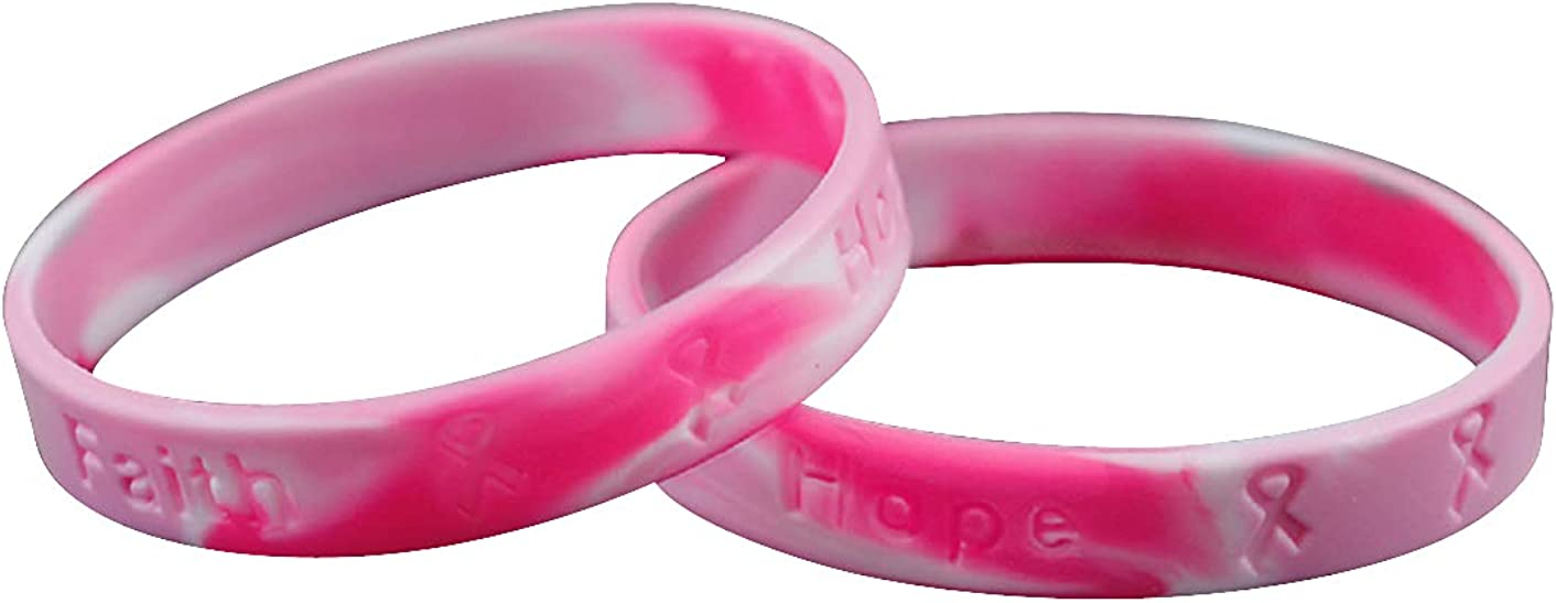 Superior Breast Cancer Awareness Pink At the price Bracelet Camouflage Silicone