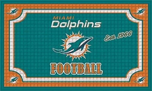 Team Sports America NFL Miami Outdoor-Safe Max 61% OFF Credence Mat Dolphins Embossed
