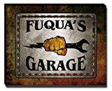 ZuWEE Wrench in Fist Garage Themed Canvas Print Personalized with The Fuqua Family Name