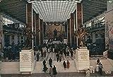 Pavillon of the U.S.S.R. The Main Hall. EXPO Bruxelles 1958. AK farbig. Gebäudeansicht, Treppenaufgang mit Statuen, viele Personen, Belgien
