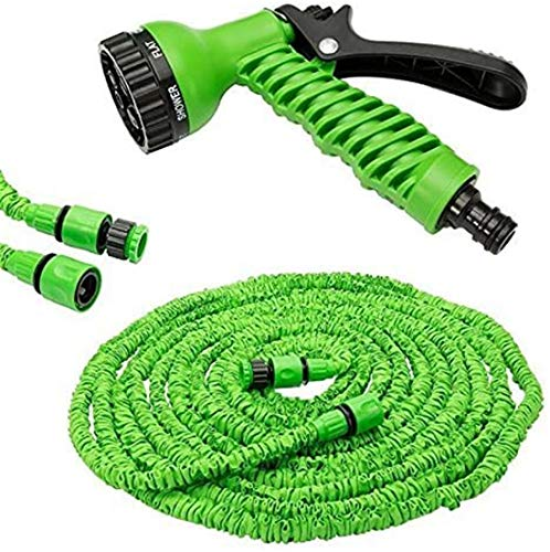 Alittle New Expandable Garden Hose Flexible Pipe Expanding with Spray Gun 25 50 75 100 200 250 Foot[100 Foot]